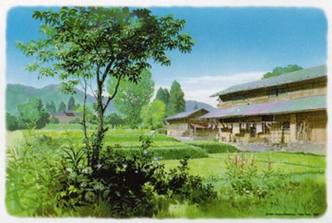 宫崎骏水彩风景
